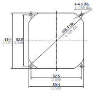 mounting-hole-dimensions diagram