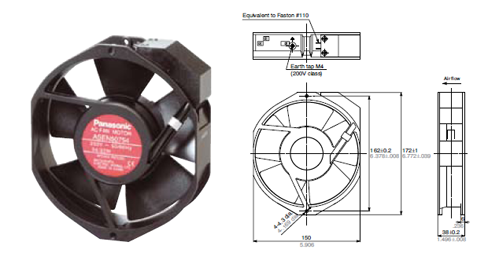 diagram of panasonic ac fan